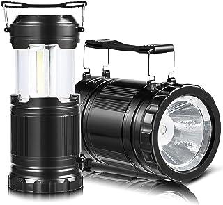 虹の光り LEDランタン,懐中電灯2モード切替,COBランタン,携帯型 ポータブル テントライト, IP65防水,2m反落下,アウトドア&防災用品,500ルーメン,2個セット (19.3*14*8.4cm,ブラック)