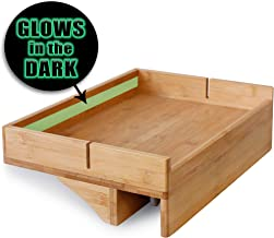 Bunk Bed Shelf for Top Bunk with Glow in The Dark Wayfinding Strip. Easy to Install Kids Bed Shelf Attachment & Bunk Buddy. Bedside Shelf Organizer or Bunk Bed Tray Table - Dorm Loft Bed Accessories