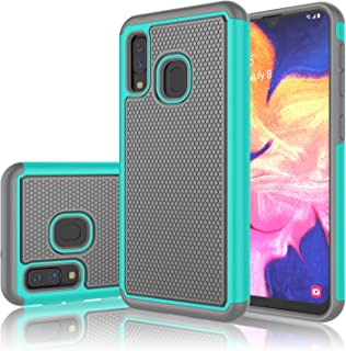 Takfox for Galaxy A10e Case, Protective Heavy Duty Hard Back&Soft Silicone Dual [Ysaturn] Shockproof Armor Rugged Compatible with Samsung Galaxy A10e (2019) Turquoise 1102-3394