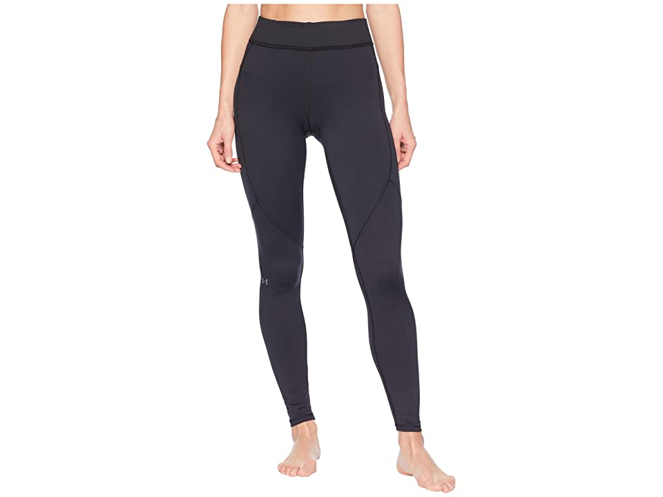 Under Armour UA Coldgear Armour Leggings (Black/Metallic Silver) Women's Workout