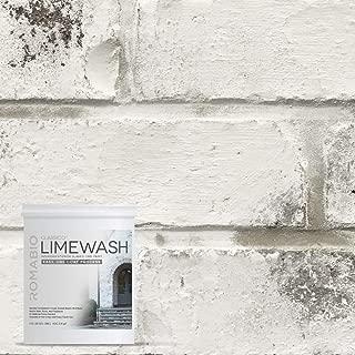 Romabio Classico Limewash Interior/Exterior Paint, Italian slaked-Lime, One Coat, Avorio White, 1L/1QT