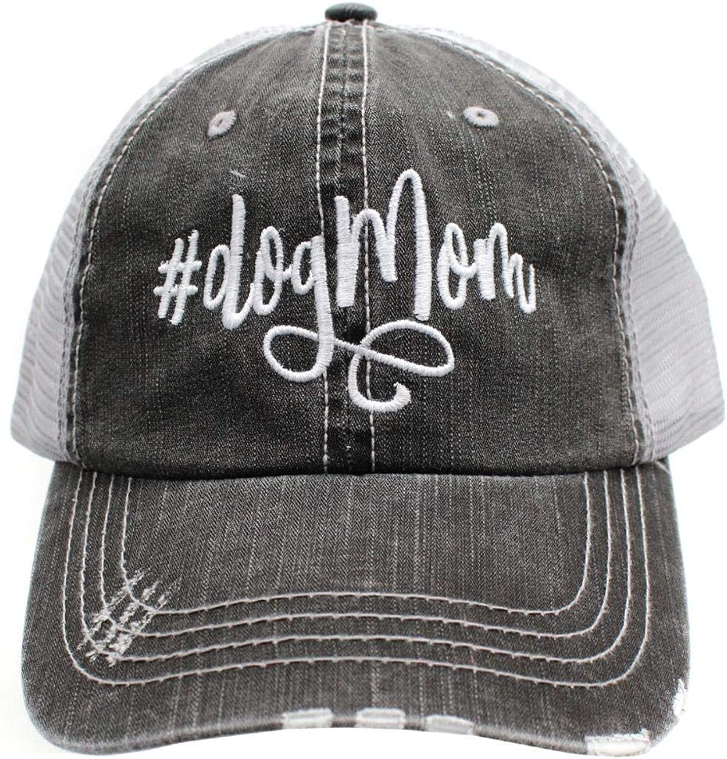 R2n fashions  Dog mom Embroidered Women'sTrucker Hats Caps
