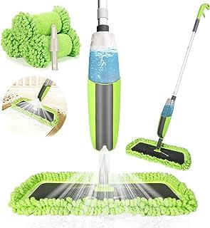 Winpok Mop z rozpylaczem, do szybkiego czyszczenia, z dyszą natryskową, ze zbiornikiem na wodę i 2 poszewkami z mikrofibry...