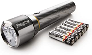 Energizer Torch, Vision HD Compact Metal Torch, 1300 Lumens Extra Performance Compact Metal Torch (6AA Batteries Included)