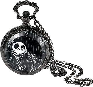 AVANER Transparent Watch Cover Ghost Head Digital dial Quartz Pocket Watch