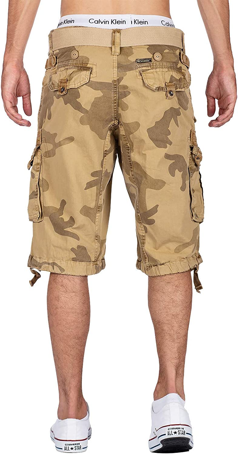 Geographical Norway Short Camouflage Homme Beige