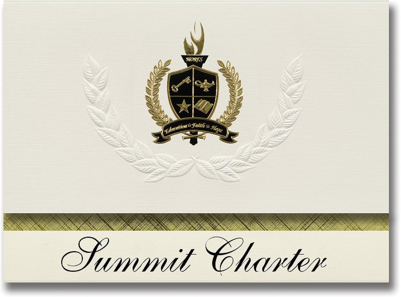 Signature Ankündigungen Summit Charta (Burnt Ranch, ca) Graduation Ankündigungen, Presidential Stil, Elite Paket 25 Stück mit Gold & Schwarz Metallic Folie Dichtung B078TT71WL     Große Ausverkauf