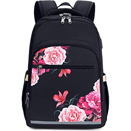 Naanle Floral Butterfly Laptop Backpack Book Bag Floral Butterfly Large 15.6 Inch Notebook Computer Bag Comfortable School College Daypack Durable Casual Travel Business Bag