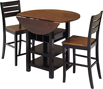 Sunset Trading Quincy Dining Pub Table Set, Black/Cherry Finish