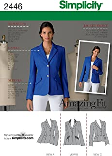 Simplicity Amazing Fit Pattern 2446 Misses Miss Petite Lined Jacket Size 6-8-10-12-14