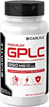 GPLC 1250 mg 60 Capsules | Non-GMO, Gluten Free | Glycine Propionyl-L-Carnitine HCL | Highest Potency Supplement | by Carlyle