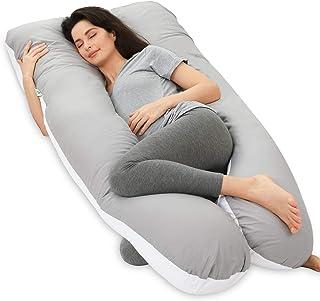 وسادة نايدريم للحمل، وسادة لكامل الجسم، بغطاء قابل للغسل - وسادة نوم للنساء الحوامل - لتخفيف الام الظهر، بمقاس 60 × 31 × ...