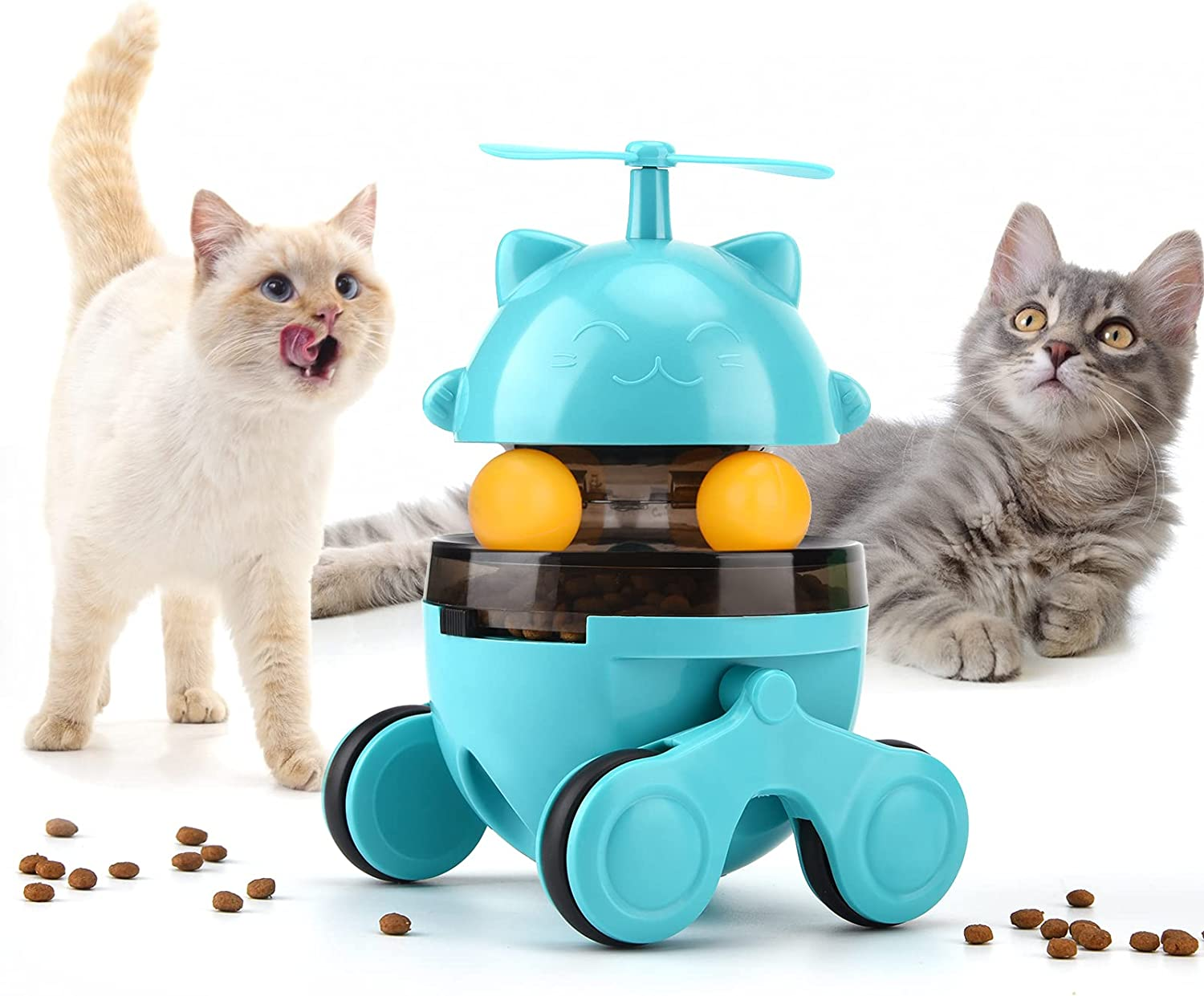 Auidy_6TXD Tumbler Interactive cat Sacramento Mall Turntable Toy Manufacturer OFFicial shop Cats Foraging