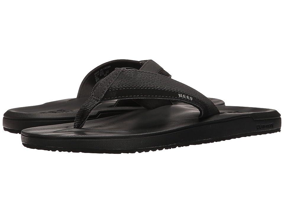 Reef Contoured Cushion (Black) Men's Sandals