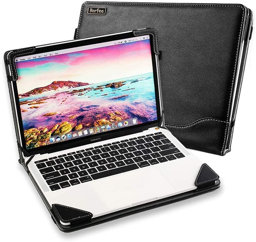 Funda para portátil ASUS VivoBook M413DA K413E Full HD 14 pulgadas Notebook Sleeve PU cuero soporte duro piel protectora