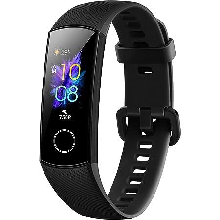 Honor Band 5 Fitness Tracker, Monitoraggio SpO2, Battito Cardiaco 24/7 e Sonno, Display Touch AMOLED 0.95 Pollici, Schermo Curvo da 2.5D, Meteorite Black