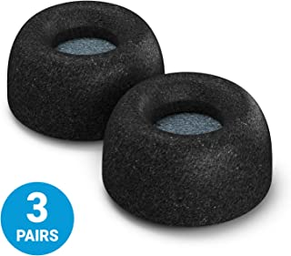 Comply Truly Wireless Pro Foam Tips for Jabra Elite 65t & Active 65t - Secure Fit Tips Made from Secure Fitting and Comfortable Memory Foam - Black, 3 Pairs, Medium with SweatGuard