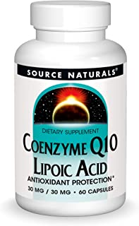 Source Naturals Coenzyme Q10, Lipoic Acid - Antioxidant Protection, Dietary Supplement That Supports Heart Health & Health...