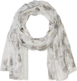 Calvin Klein Watercolor Vine Shadow Stripe Scarf