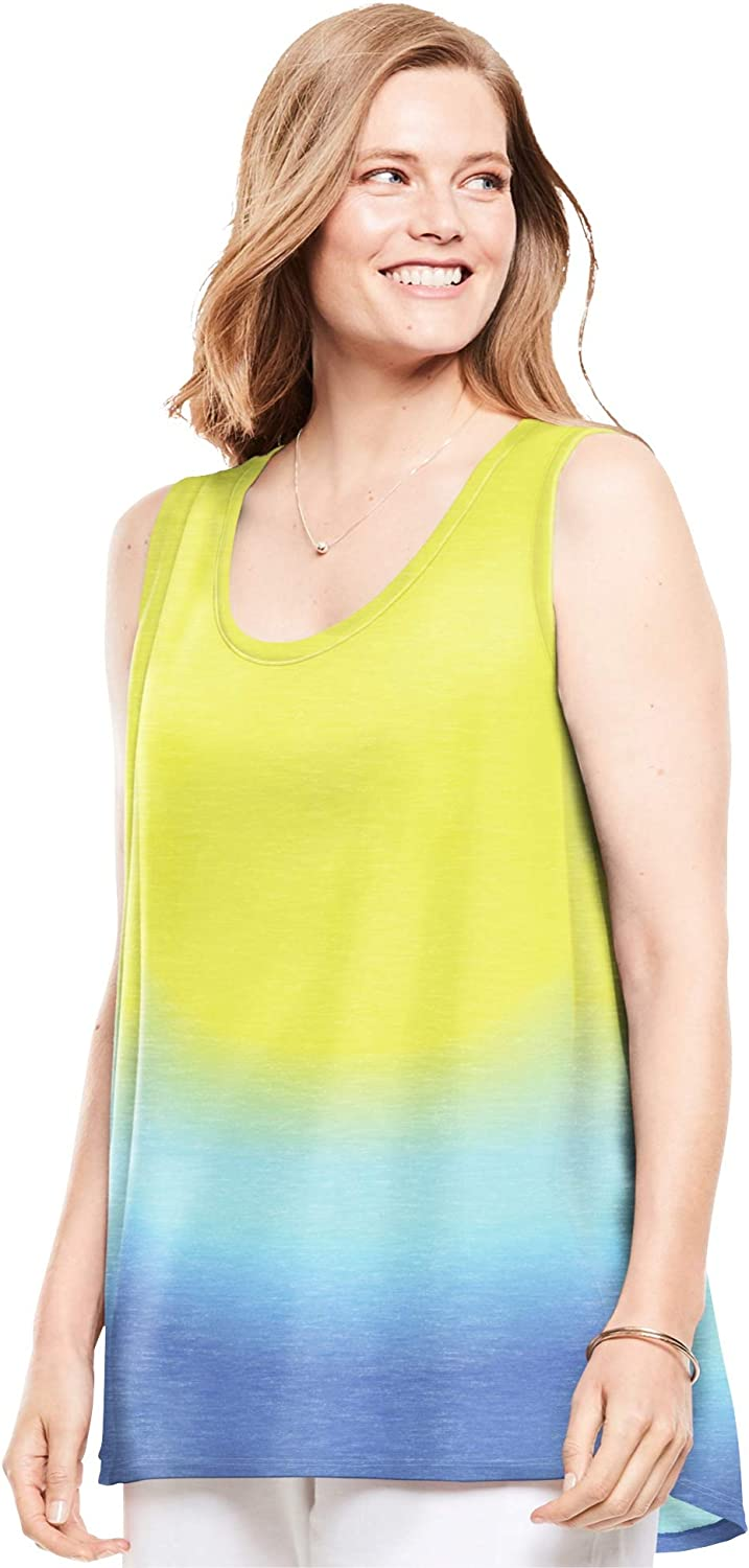 Woman Within Women's Plus Size High-Low Tank Top