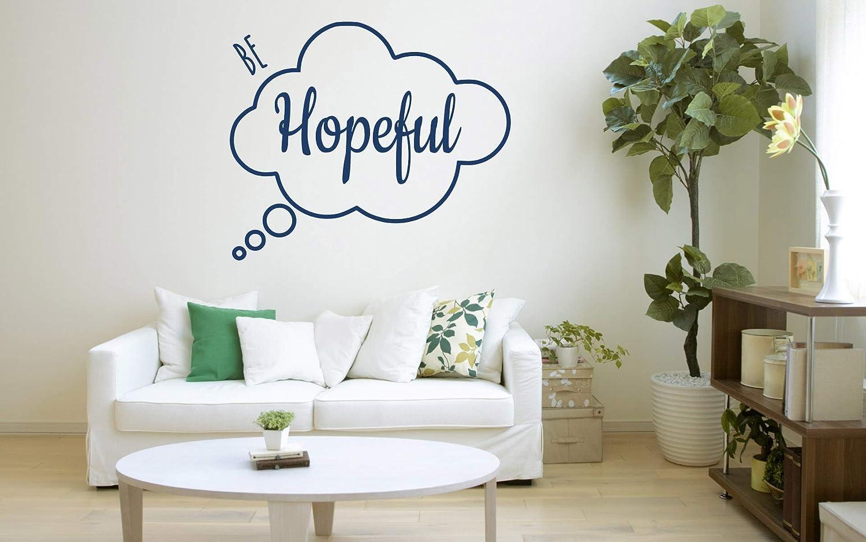 Latest item 'Be Hopeful' Quote vinyl Decal Product Sticker. Mur Motivational