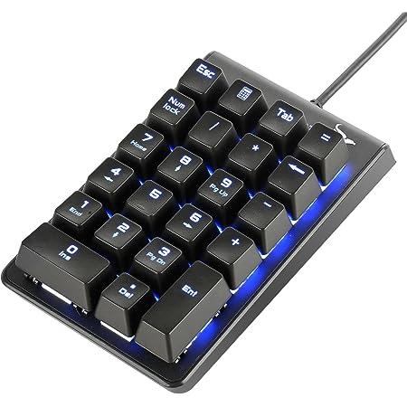 Rottay テンキーボード 有線 USB接続 5000万回高耐久 メカニカル式テンキーパッド 青軸 22キー Windows Mac 対応