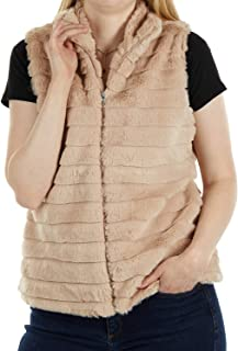 ReLive Rabbit Faux Fur Vest - Soft Polyester Womens Vest