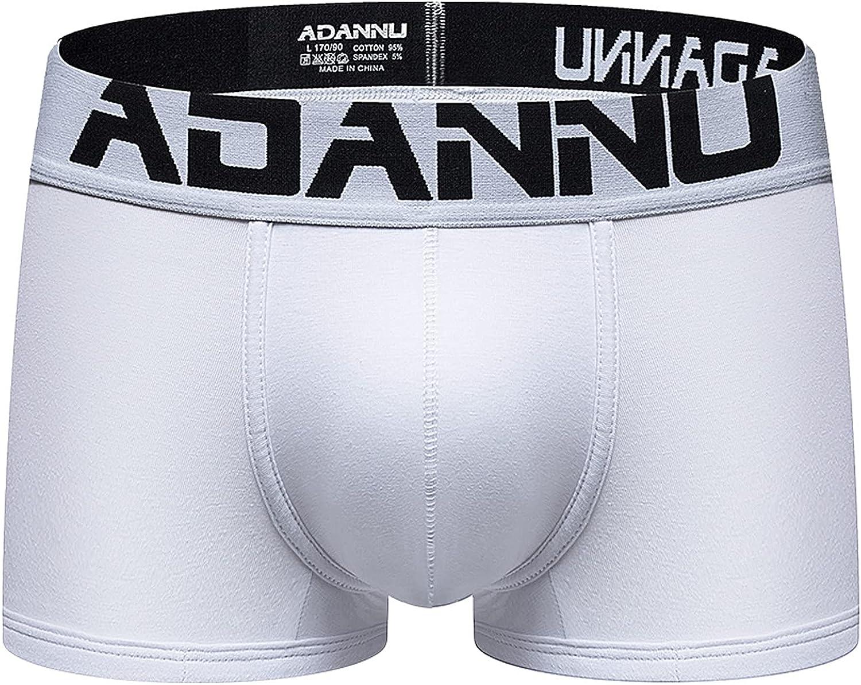 JSPOYOU Men's Boxers Underwear Athletic Elastic Sexy Bulge Pouch Panties Building Jockstraps Stretchy Underpants B
