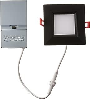 Lithonia Lighting WF4 SQ B LED 30K MB M6 Ultra-Thin Square LED Recessed Ceiling Light, 3000K | Bright White, Matte Black