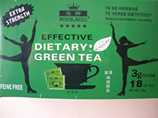 Royal King-extra Strength Effective Dietary Green Tea (Value Pack)-108 Tea Bags in 6 Box by Royal King