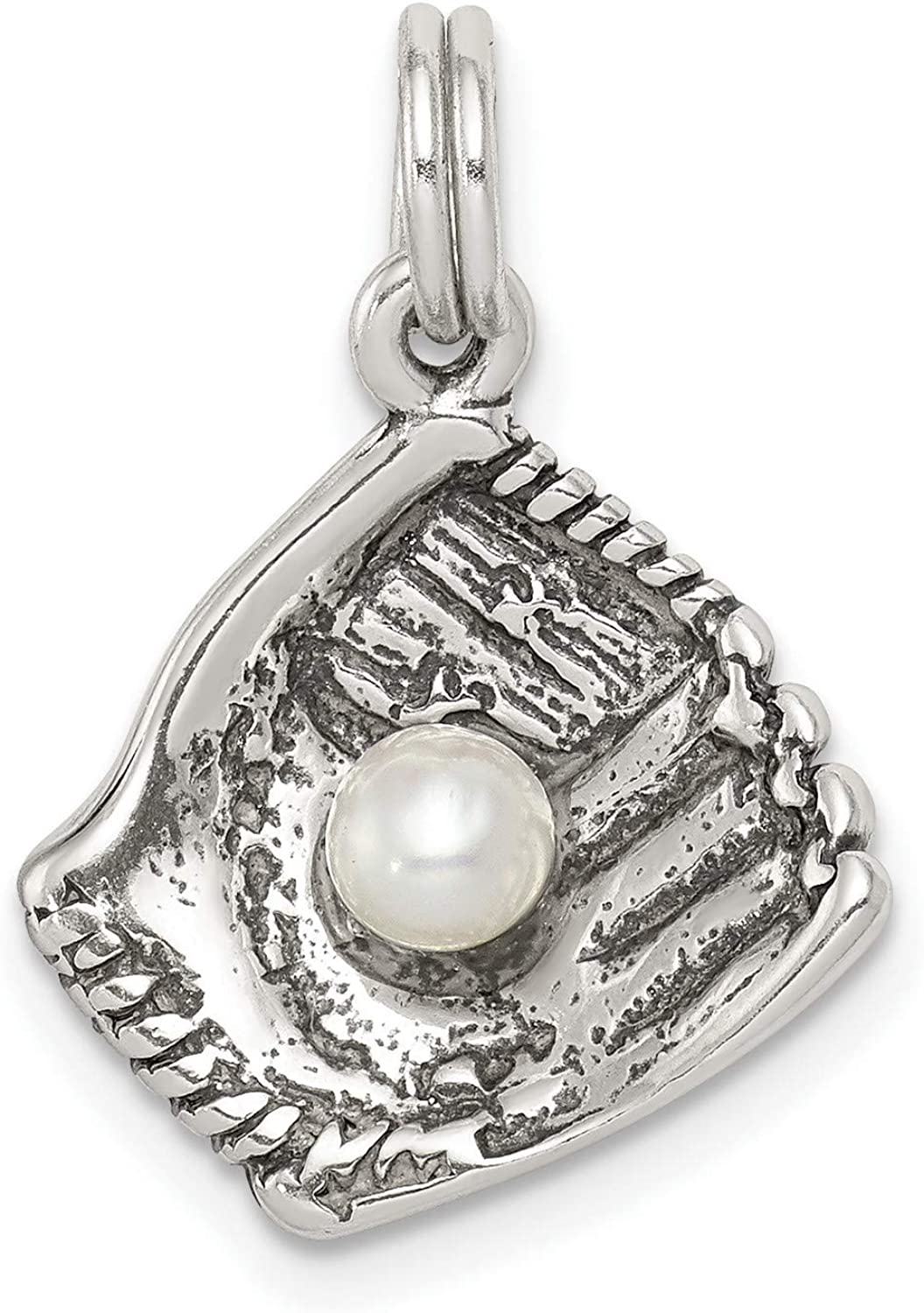 Max 47% Gorgeous OFF Softball Glove With Simulated Pearl Ball 925 Sterling S In Charm