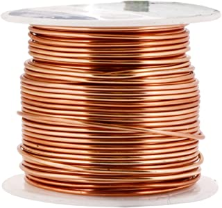 Mandala Crafts Anodized Aluminum Wire for Sculpting, Armature, Jewelry Making, Gem Metal Wrap, Garden, Colored and Soft, 1 Roll(16 Gauge, Copper Tone)