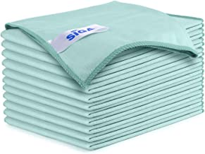 "MR.SIGA Ultra Fine Microfiber Cloths for Glass, Pack of 12, 35 x 40cm 13.7"" x 15.7"""