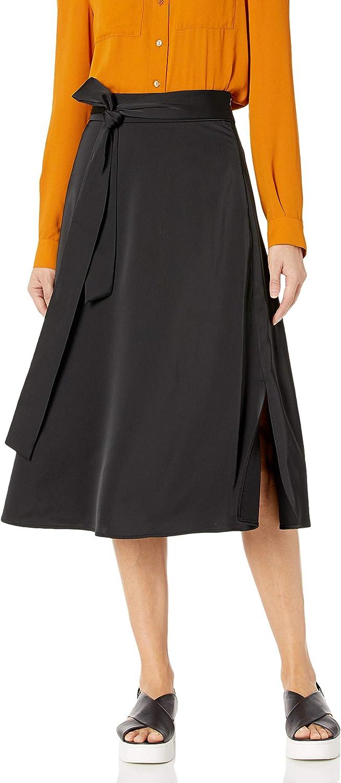 kensie Women's Matte Shine Midi Skirt