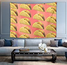 NiYoung Hippie Tapestry Bohemian Hippy Tapestries, Mexican Taco Wall Hanging Dorm Decor Wall Tapestry Bedroom Dorm, Sofa Cover, Beach Throw