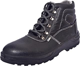 E-Volt 82164 Universal Men's Black Leather Safety Shoes, 7 UK