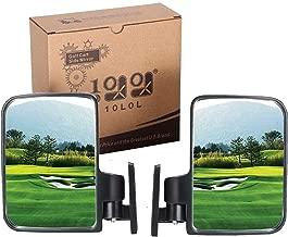 10L0L 2 Side Rear View Mirror for EZGO Yamaha Club Car Side Mirrors Golf Cart