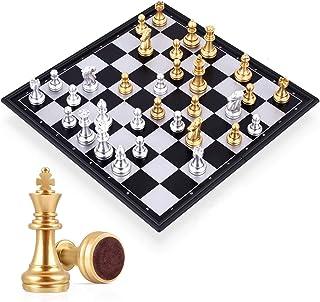 لوح شطرنج عالمي كبير بتصميم قابل للطي للتنقل وأحجار مغناطيسية
