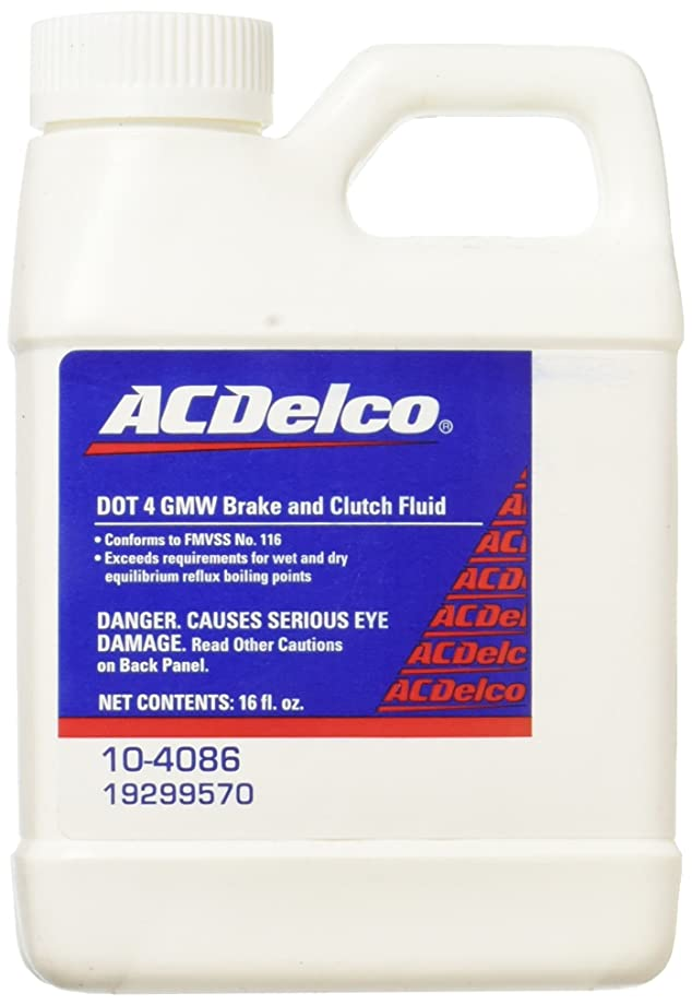 ACDelco 10-4086 DOT 4 Hydraulic Brake and Clutch Fluid - 16 oz