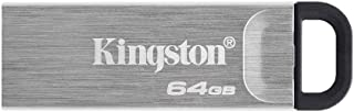 Kingston 64GB DataTraveler Kyson USB Flash Drive USB 3.2 Gen 1 speeds Metal DTKN/64GB