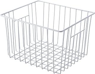 SANNO Household Wire Storage Basket Bins Organizer with Handles for Kitchen, Pantry, Freezer, Cabinet - 1 Pack