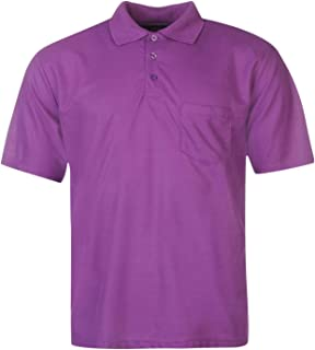 Donnay Pocket Polo Shirt Mens Purple Activewear Athleisure Top Tee Small