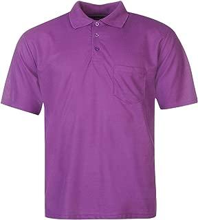 Pocket Polo Shirt Mens Purple Activewear Athleisure Top Tee Small
