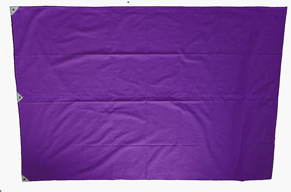 関税を除く甘美なTOMAC 紐付色旗 綿 IHC-12-07 紫 120×180㎝