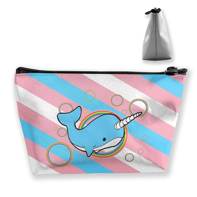 出しますリビジョン熟すSzsgqkj アメリカの旗星と縞模様のトランスジェンダーの旗 イッカクラウンドカラフルなバブル 化粧品袋の携帯用旅行構造の袋の洗面用品の主催者