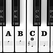 Piano Stickers for Keys, Eison Full Set Piano Keyboard Stick