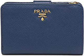 PRADA プラダ レザー 二つ折り財布 1ML225 S ME BLUETTE