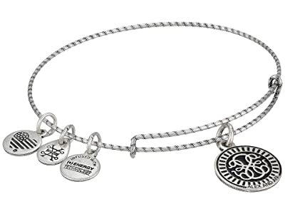 Alex and Ani Embossed Paint Charm, Path of Life Charm Bangle (Rafaelian Silver) Bracelet