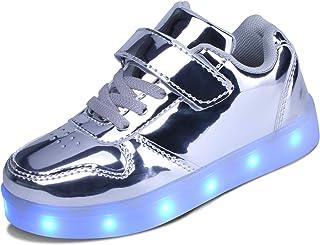 kealux Zapatos LED para niños y jóvenes Zapatos Bajos con iluminación para niñas Niños Zapatos con Carga USB para niños Mo...