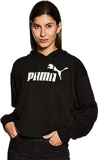 PUMA Women's ESS+ Logo Cropped Hoody
